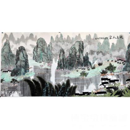 桂林山水 山水画 冀冰作品
